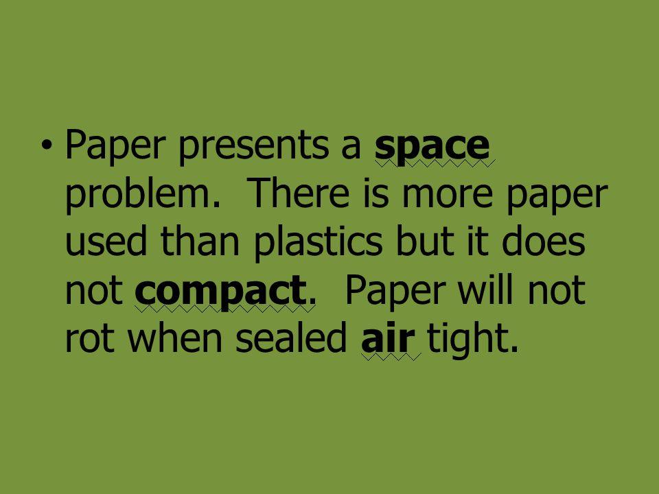 Paper presents a space problem