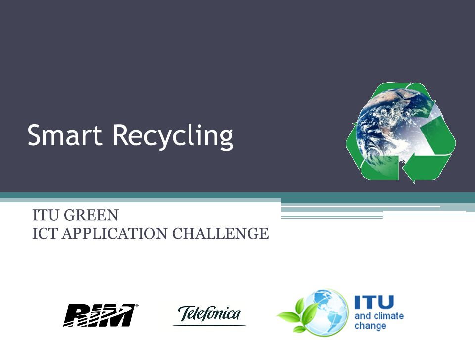 ITU GREEN ICT APPLICATION CHALLENGE