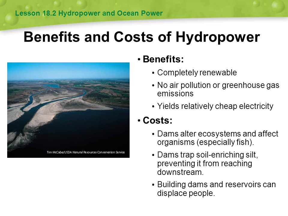 Benefits and Costs of Hydropower