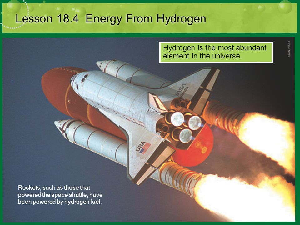Lesson 18.4 Energy From Hydrogen