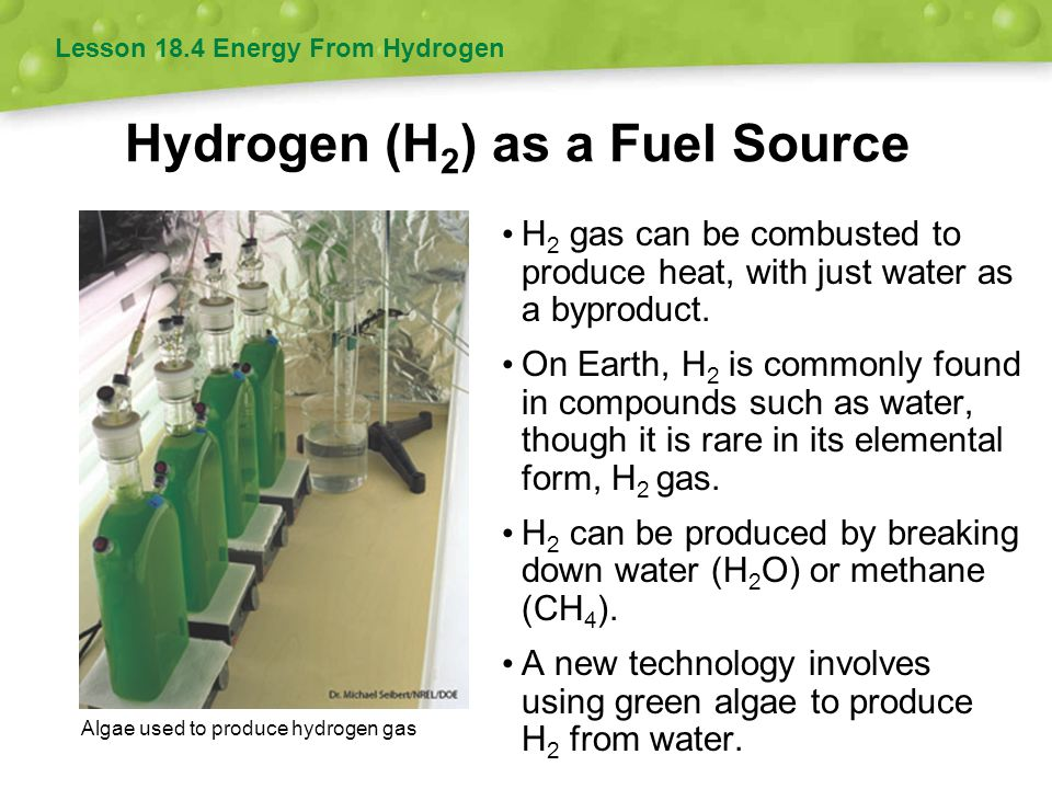 Hydrogen (H2) as a Fuel Source