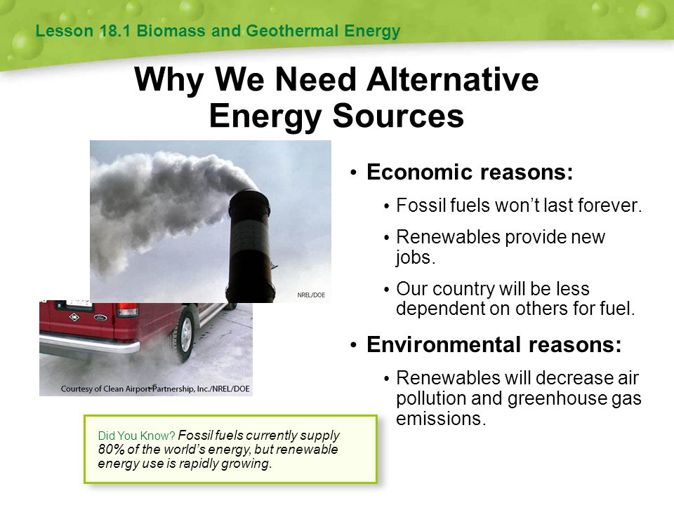 Why We Need Alternative Energy Sources
