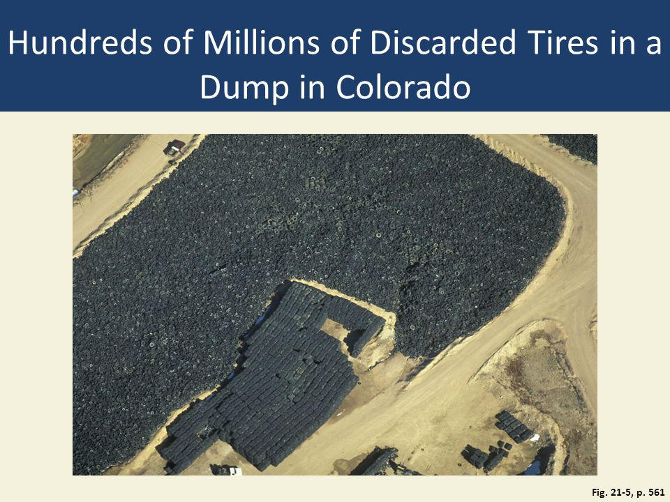 Hundreds of Millions of Discarded Tires in a Dump in Colorado