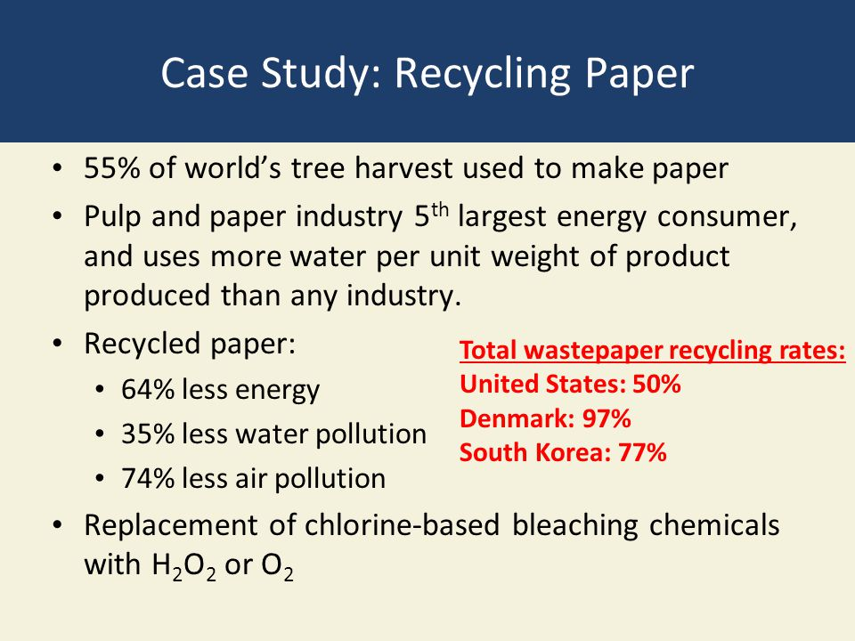 Case Study: Recycling Paper