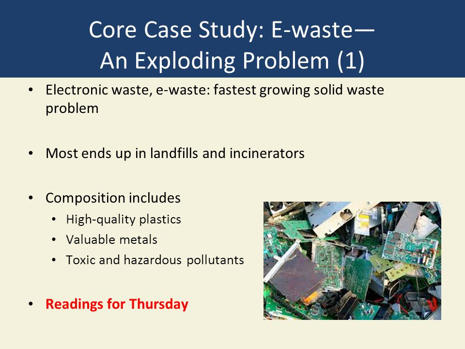 Core Case Study: E-waste— An Exploding Problem (1)