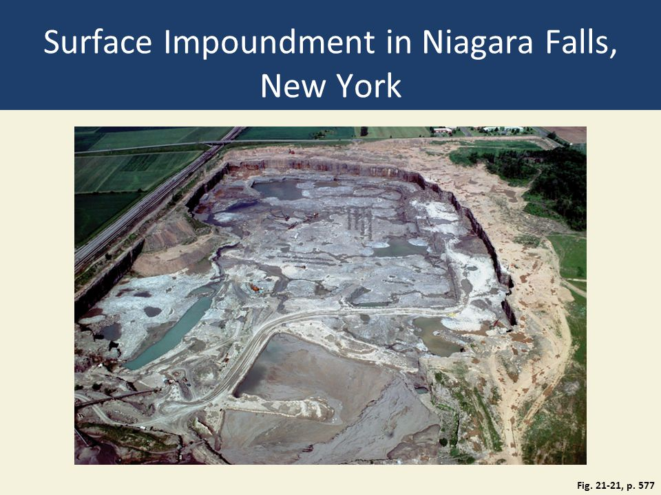 Surface Impoundment in Niagara Falls, New York