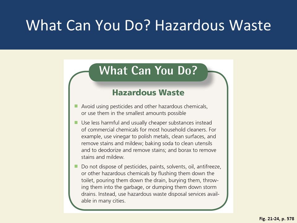 What Can You Do Hazardous Waste