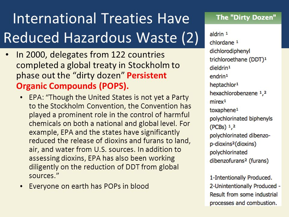 International Treaties Have Reduced Hazardous Waste (2)