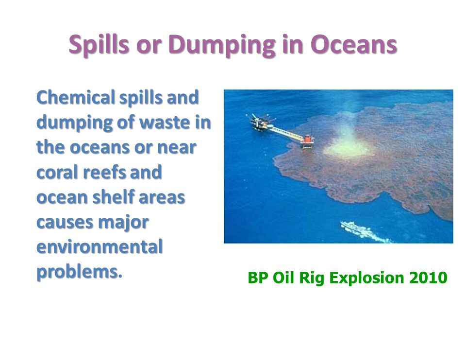 Spills or Dumping in Oceans
