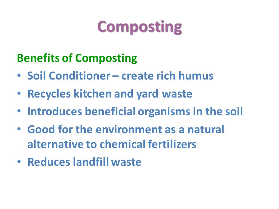 Composting Benefits of Composting Soil Conditioner – create rich humus