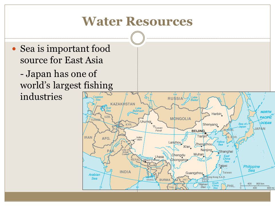 Water Resources Sea is important food source for East Asia