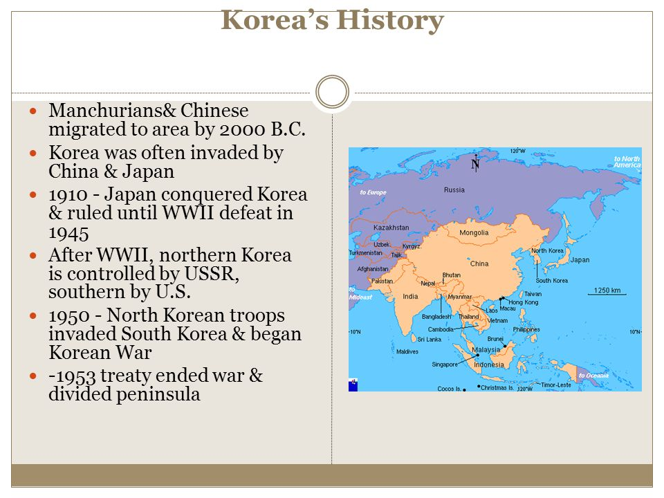 Korea's History Manchurians& Chinese migrated to area by 2000 B.C.