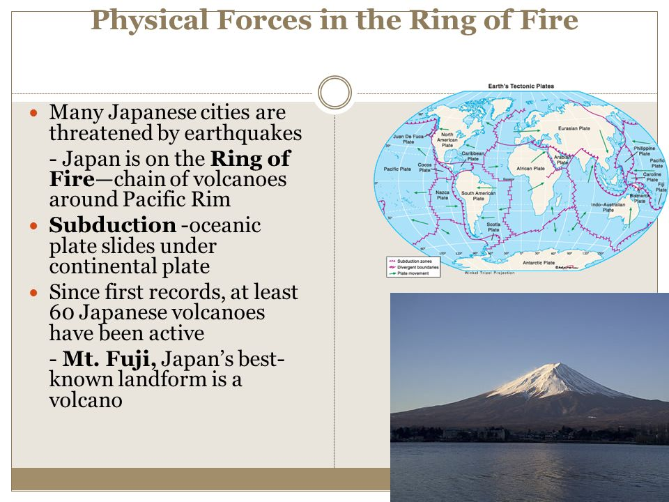 Physical Forces in the Ring of Fire