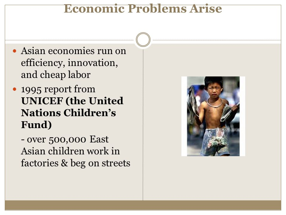 Economic Problems Arise