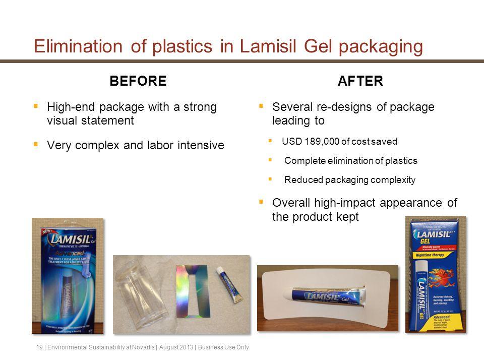 Elimination of plastics in Lamisil Gel packaging
