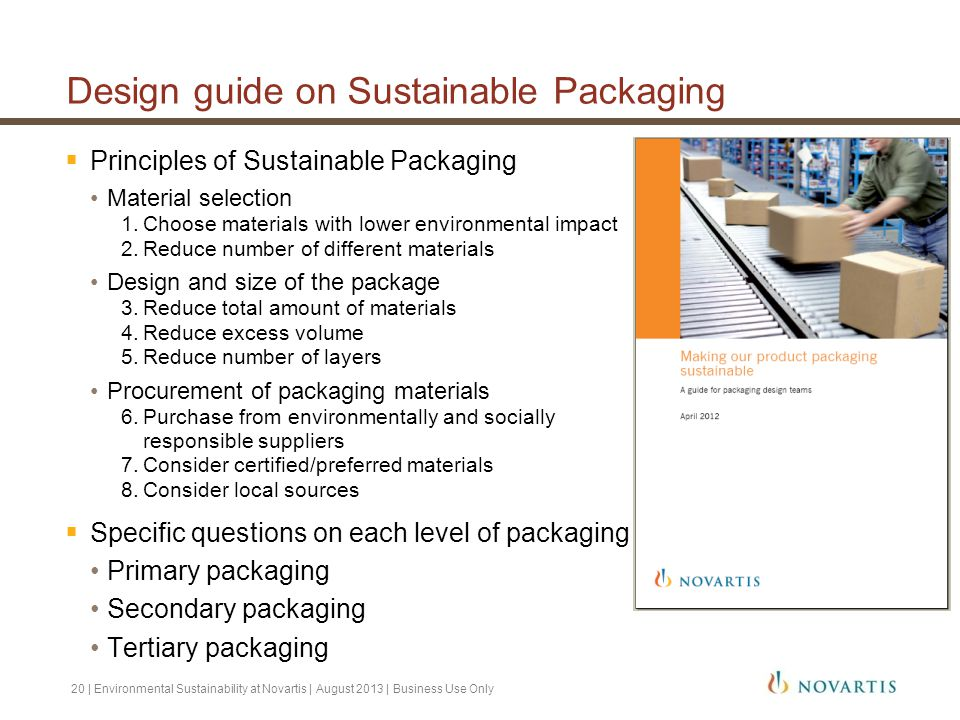 Design guide on Sustainable Packaging