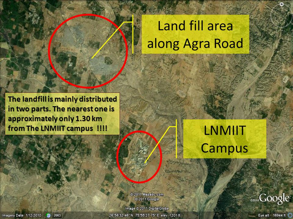 Land fill area along Agra Road