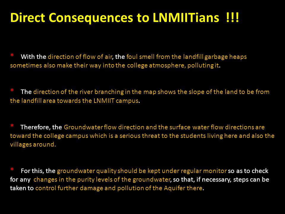 Direct Consequences to LNMIITians !!!