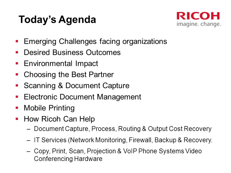 Today's Agenda Emerging Challenges facing organizations