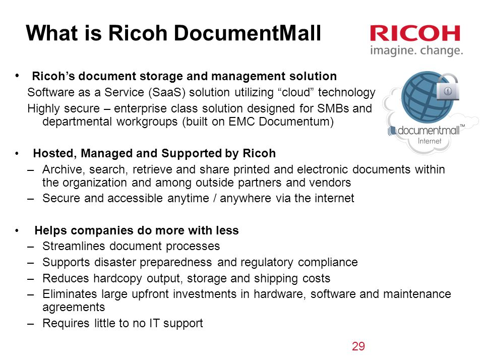 What is Ricoh DocumentMall