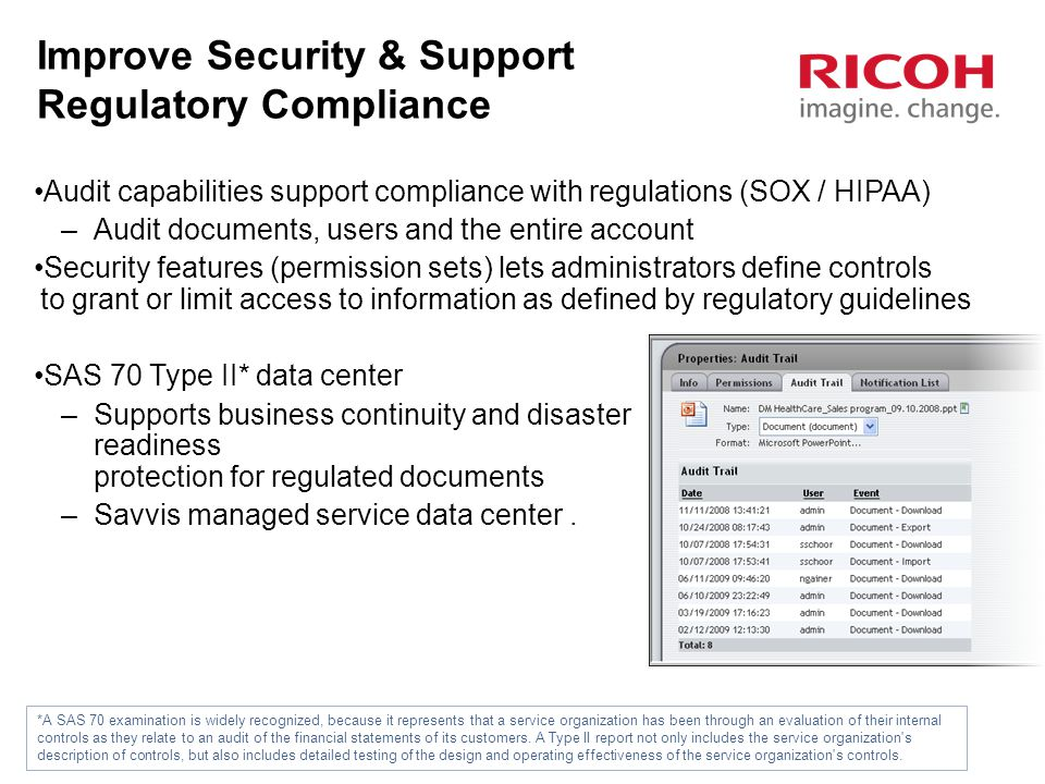 Improve Security & Support Regulatory Compliance
