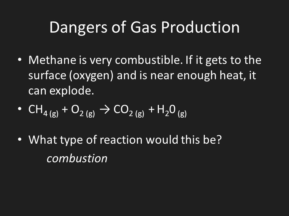 Dangers of Gas Production
