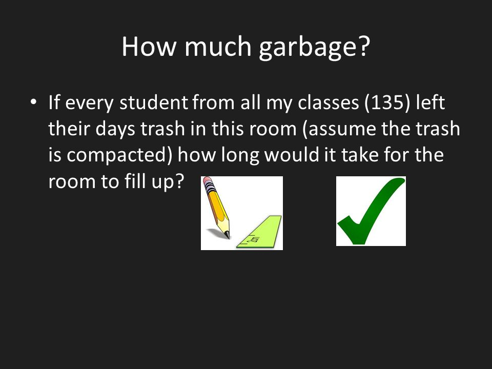 How much garbage