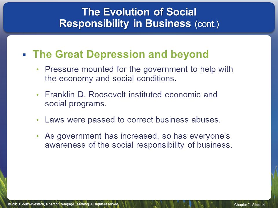The Evolution of Social Responsibility in Business (cont.)