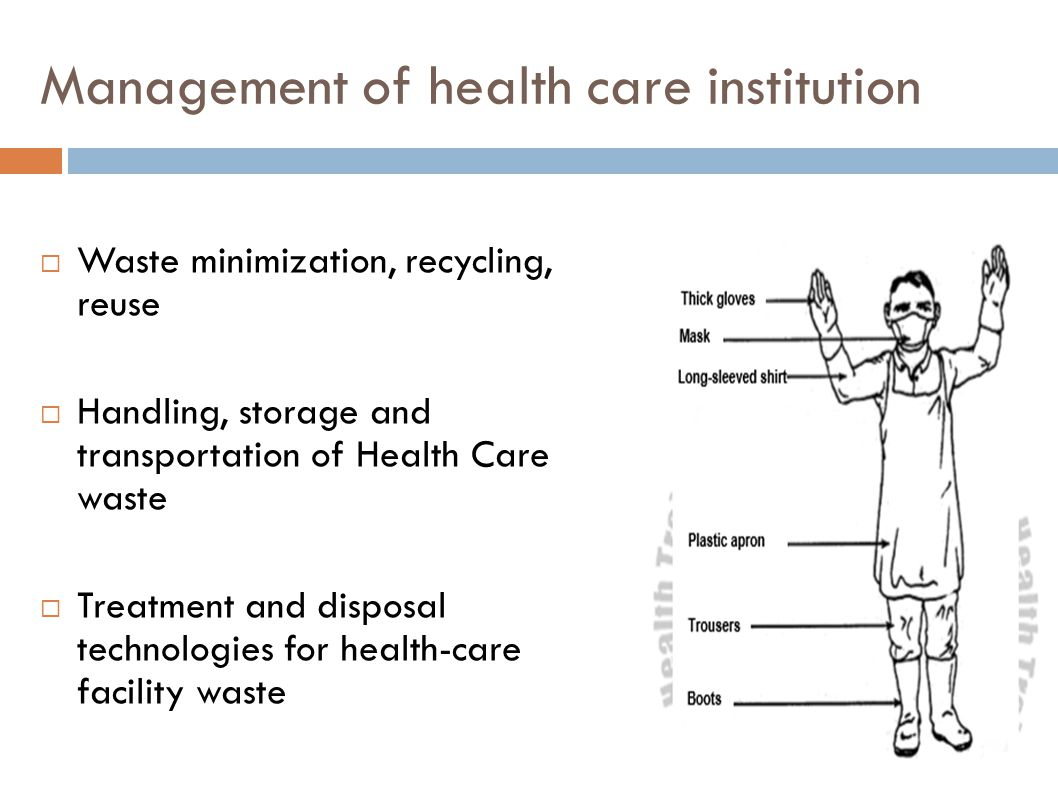 Management of health care institution