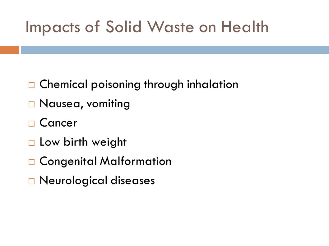 Impacts of Solid Waste on Health