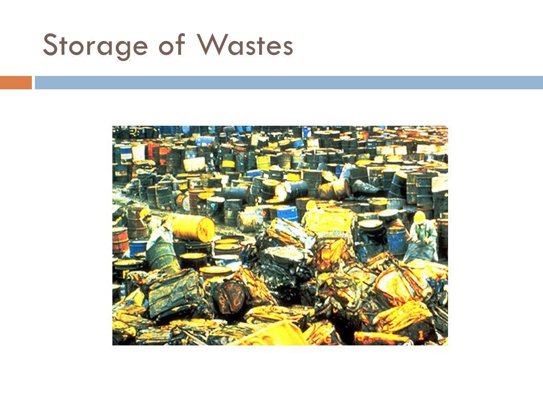 Storage of Wastes