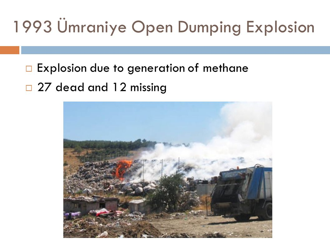 1993 Ümraniye Open Dumping Explosion