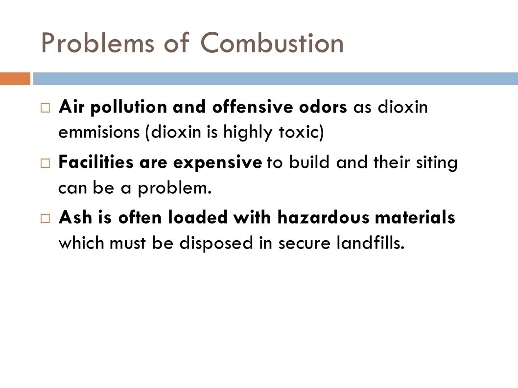 Problems of Combustion