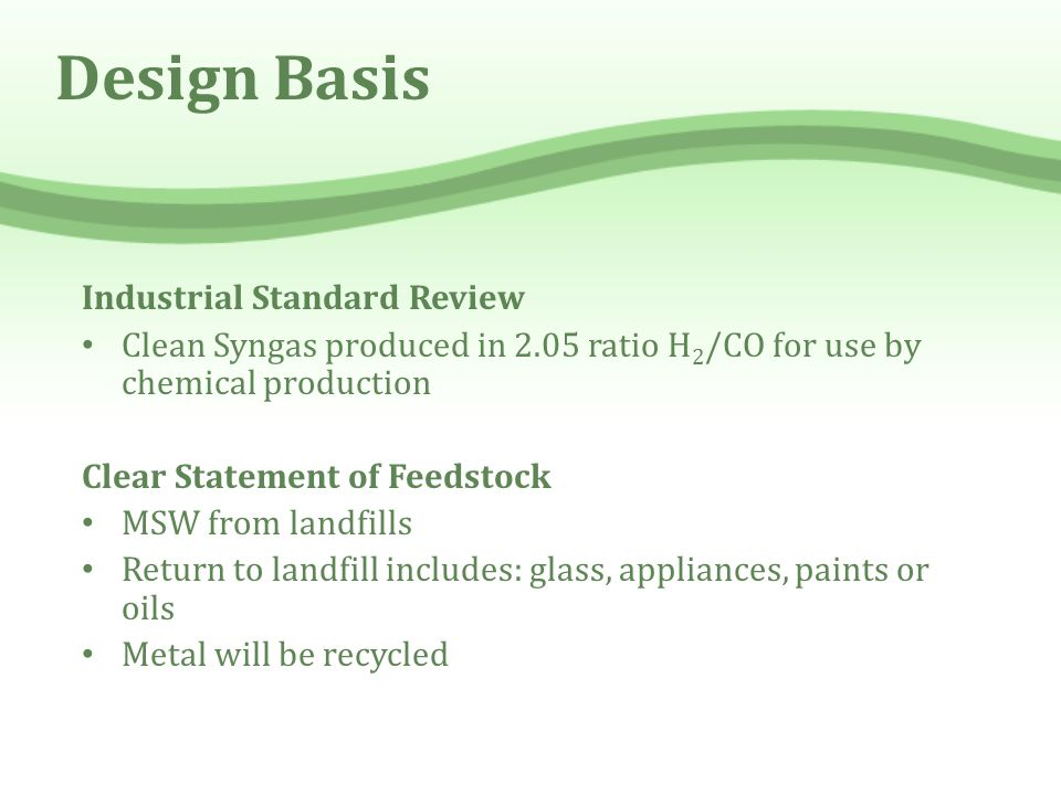 Design Basis Industrial Standard Review