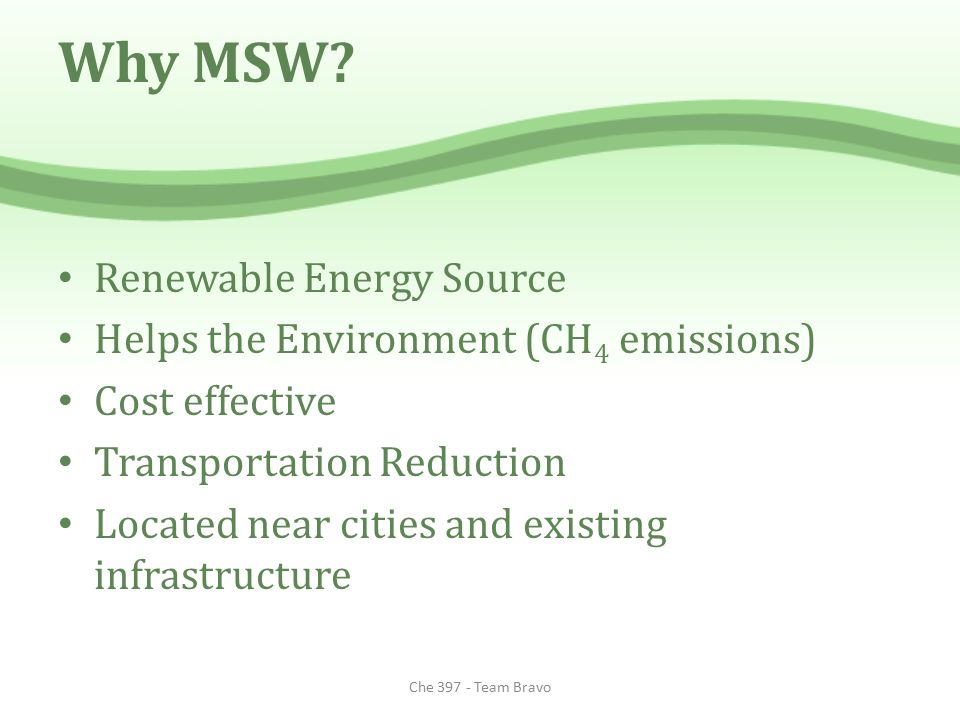 Why MSW Renewable Energy Source Helps the Environment (CH4 emissions)