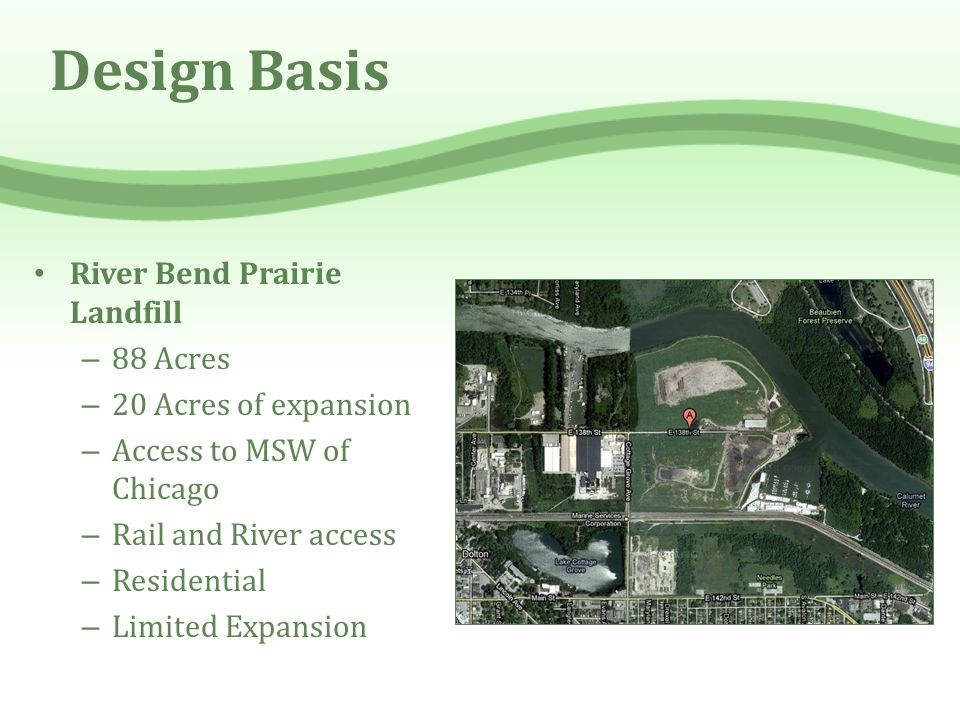 Design Basis River Bend Prairie Landfill 88 Acres