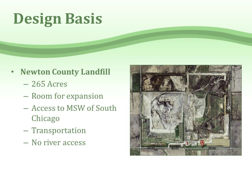 Design Basis Newton County Landfill 265 Acres Room for expansion