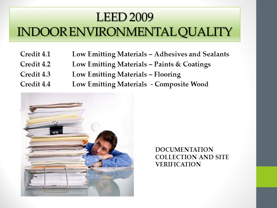 Getting to green and out again ppt video online download for Indoor environmental quality design