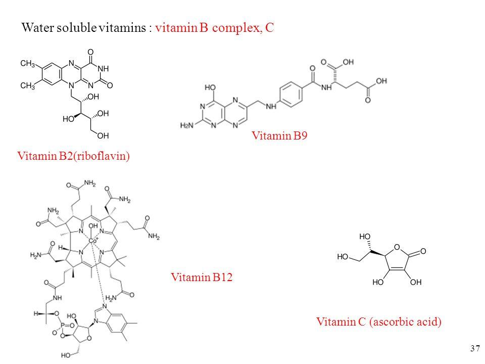 Water soluble vitamins : vitamin B complex, C