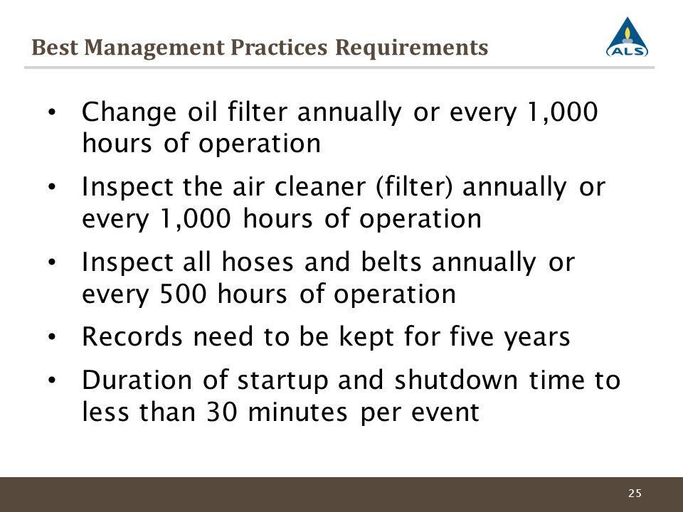 Best Management Practices Requirements