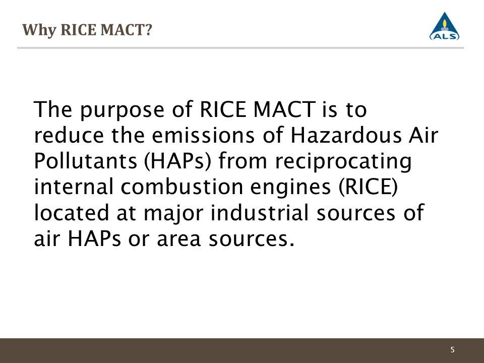 Why RICE MACT