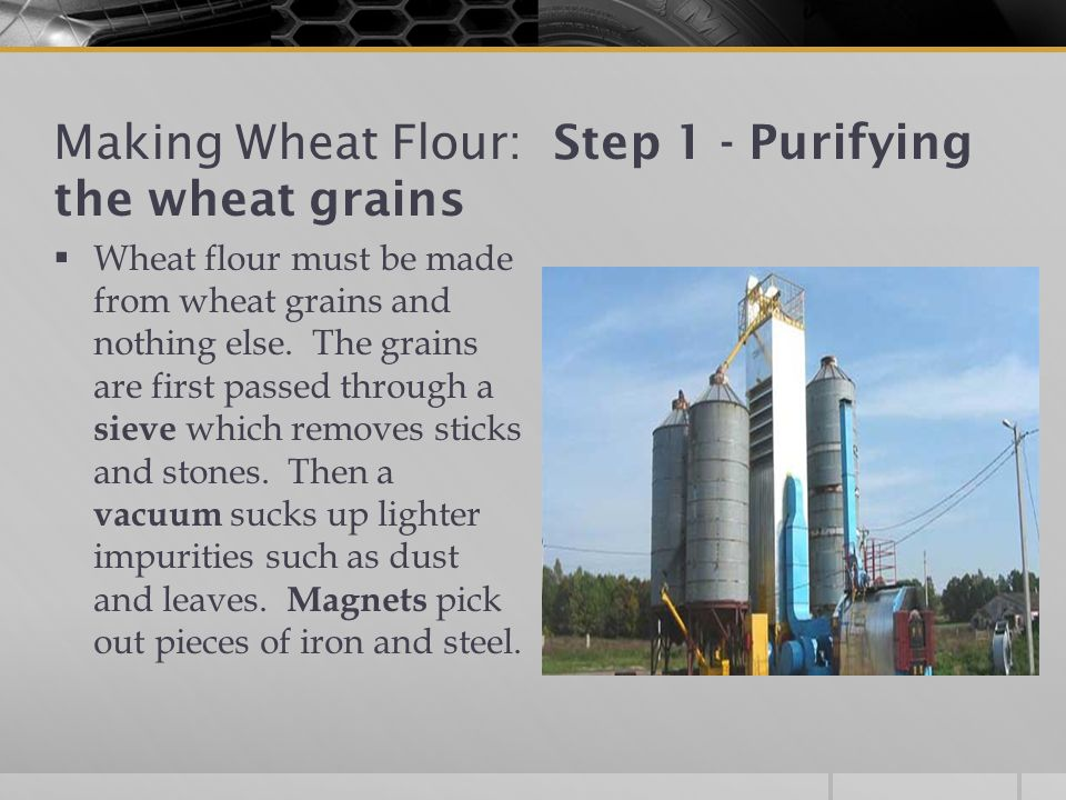 Making Wheat Flour: Step 1 - Purifying the wheat grains