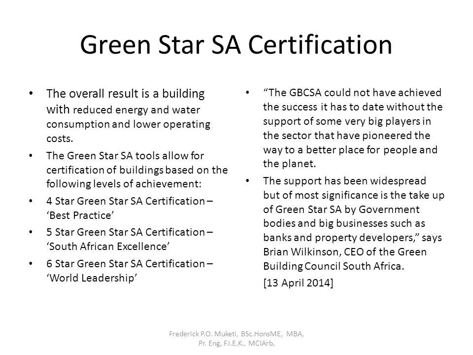 Green Star SA Certification
