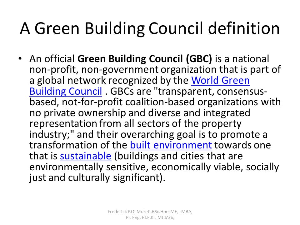 A Green Building Council definition