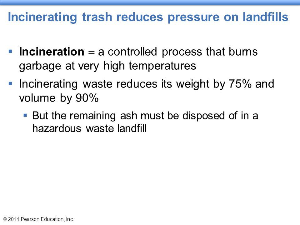 Incinerating trash reduces pressure on landfills