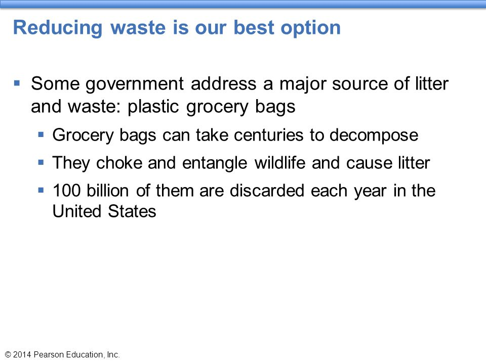 Reducing waste is our best option
