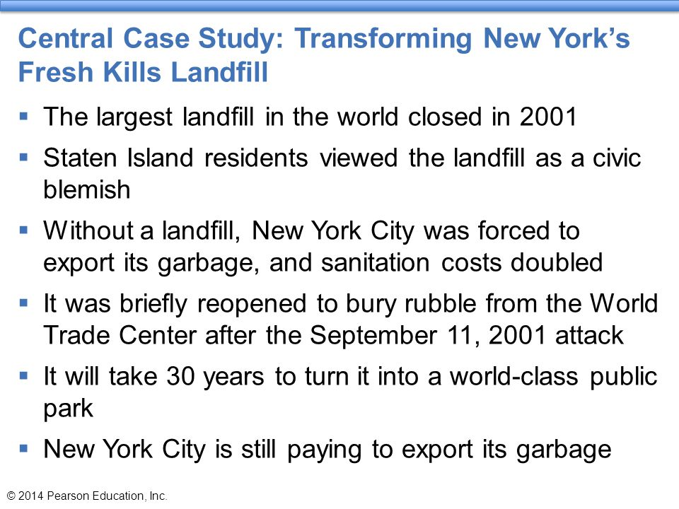 Central Case Study: Transforming New York's Fresh Kills Landfill