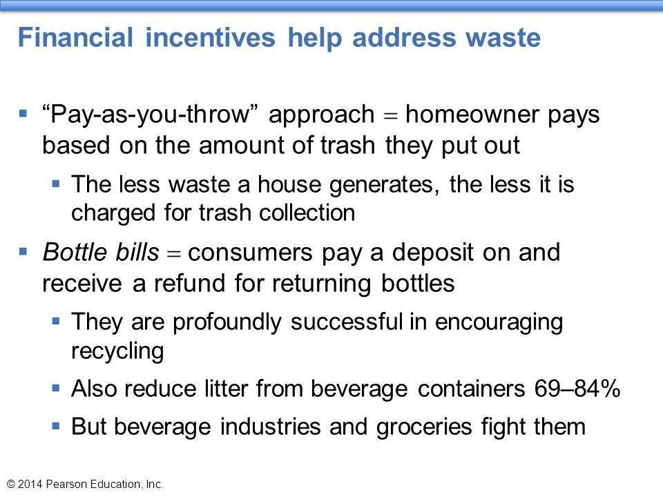 Financial incentives help address waste