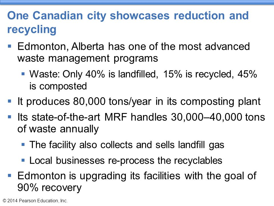 One Canadian city showcases reduction and recycling