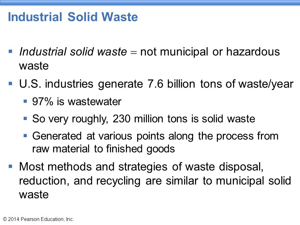 Industrial Solid Waste